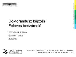 Féléves beszámoló Garami 2013-14 I. félév