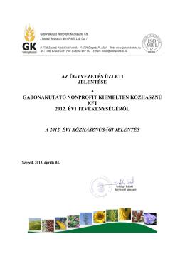 gabonakutató nonprofit kiemelten közhasznú kft - Index of