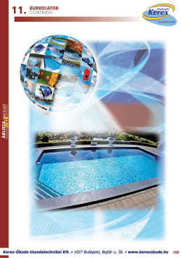 Products of Foil coating for concrete pools