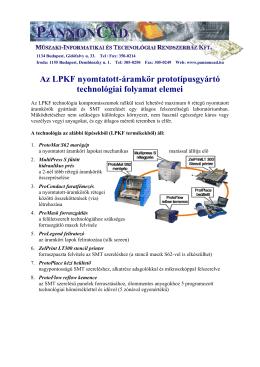 Az LPKF nyomtatott-áramkör prototípusgyártó technológiai folyamat