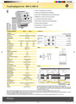 Feszültségfigyelő relé - HRN-41, HRN-42