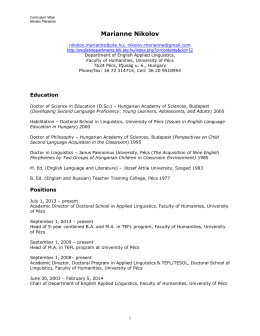 CVNikolov 2014.pdf - Institute of English Studies