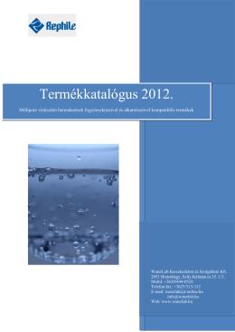 Termékkatalógus 2012.