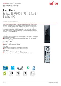 Data Sheet Fujitsu ESPRIMO C5731 E