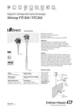 Minicap FTC260 / FTC262 - E