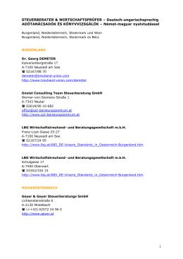 STEUERBERATER & WIRTSCHAFTSPRÜFER – Deutsch