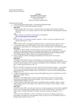 Nyelvpolitika és nyelvi tervezés Tematika Szem 2014 ősze