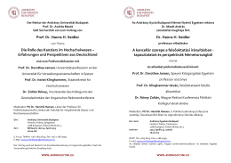 Einladung, meghívó - Andrássy Universität Budapest