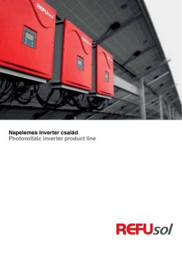 Refusol Invertercsalád - Katalógus 2012 - KT