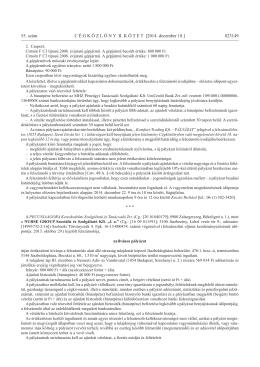 Letöltés - Pecuniaagora Zrt.