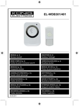 HQ (EL-WDB301) használati útmutató