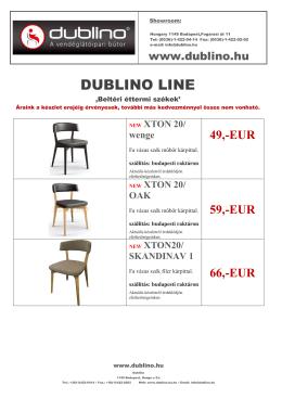 DL Beltéri szék árlista