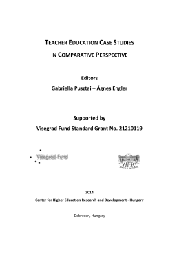 teacher education case studies in comparative perspective