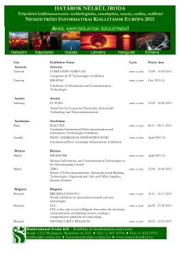 nemzetközi informatikai kiállítások európa 2013