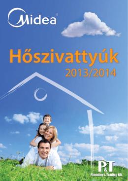 MIDEA hőszivattyú 2013 magyar nyelvű katalógus