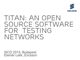 Titan: an open source software FOR testing networks
