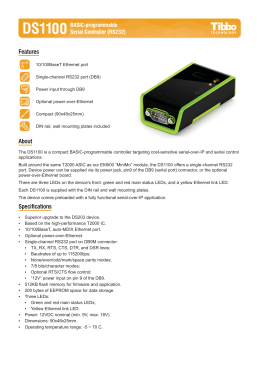 DS1100 datasheet - TIBBO Technology
