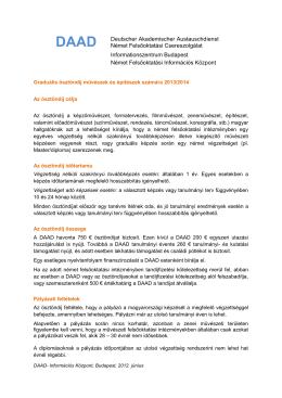 DAAD Deutscher Akademischer Austauschdienst Német