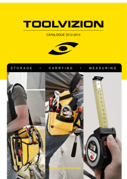 CATALOGUE 2012-2013 STORAGE • CARRYING