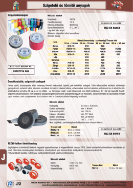 J/2 Szigetelő és tömítő anyagok