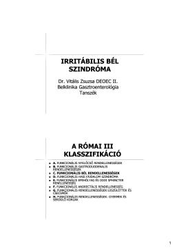 Irritabilis bél szindróma, Diverticulosis