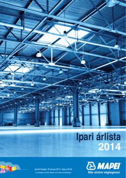 Ipari árlista 2014