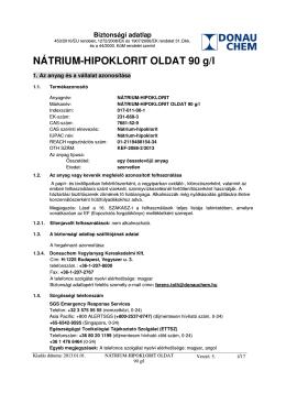 NÁTRIUM-HIPOKLORIT OLDAT 90 g/l