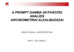 A PGAA archeometriai alkalmazásai