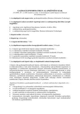 Gazdaságinformatikus BSc - Debreceni Egyetem Informatikai Kar