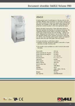 Document shredder DAHLE Volume PRO 20453