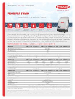 Fronius symo - napelem.NET
