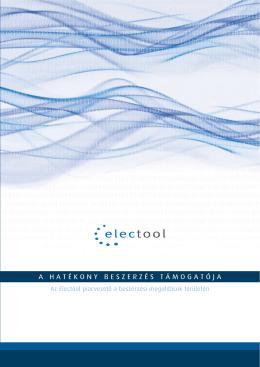 Az Electool piacvezető a beszerzési megoldások területén