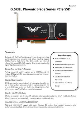 Phoenix Blade PCIe SSD Data Sheet