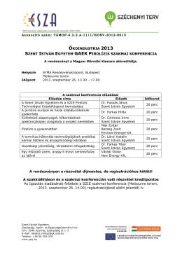 A szakmai konferencia programja
