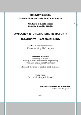 evaluation of drilling fluid filtration in relation with casing drilling