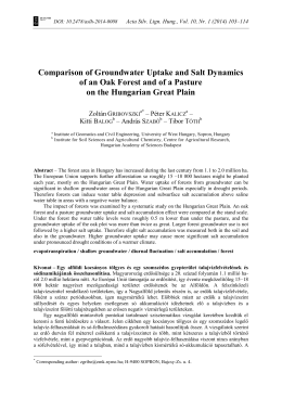 Comparison of Groundwater Uptake and Salt Dynamics of an Oak