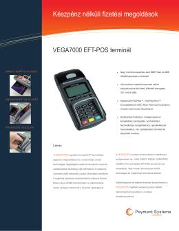 VEGA-7000 POS terminál specifikációk