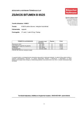 ZSÁKOS BITUMEN B 85/25 - ssl