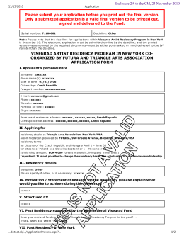 Application form—sample - International Visegrad Fund