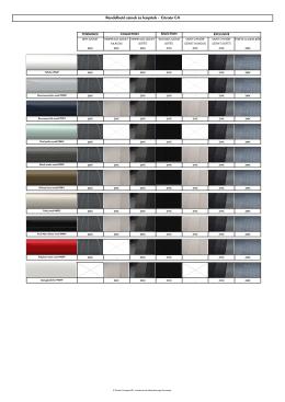Rendelhető színek és kárpitok
