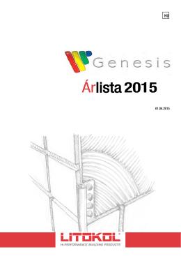 Genesis árlista 2015