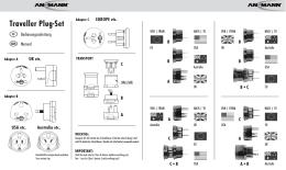 Traveller Plug-Set - produktinfo.conrad.de