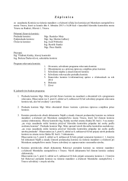 Zápis z rokovania Komisie na riešenie mandátov a
