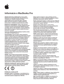 Informácie o MacBooku Pro
