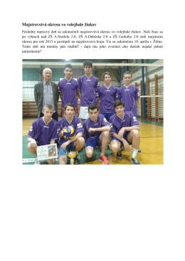 Majstrovstvá okresu vo volejbale žiakov