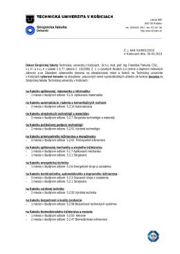 Výberové konanie - docenti na SjF