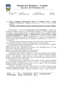 VV - OZ konania CHUŤKA 03 - 2015