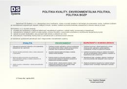 Integrovaná politika DS Systems s.r.o.