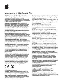 Informácie o MacBooku Air