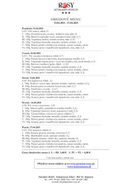 denné menu 2015 15 týždeň R